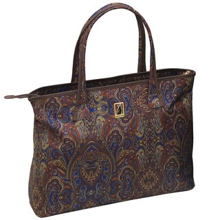 London Fog Soho Collection Brown Polyester 20-inch City Shopper Tote Bag