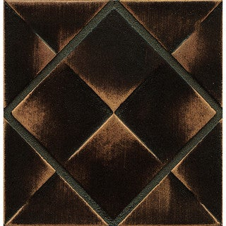 Bedrosians Matterix City Bronze Metal and Resin 4-inch x 4-inch Tile (1 Piece)