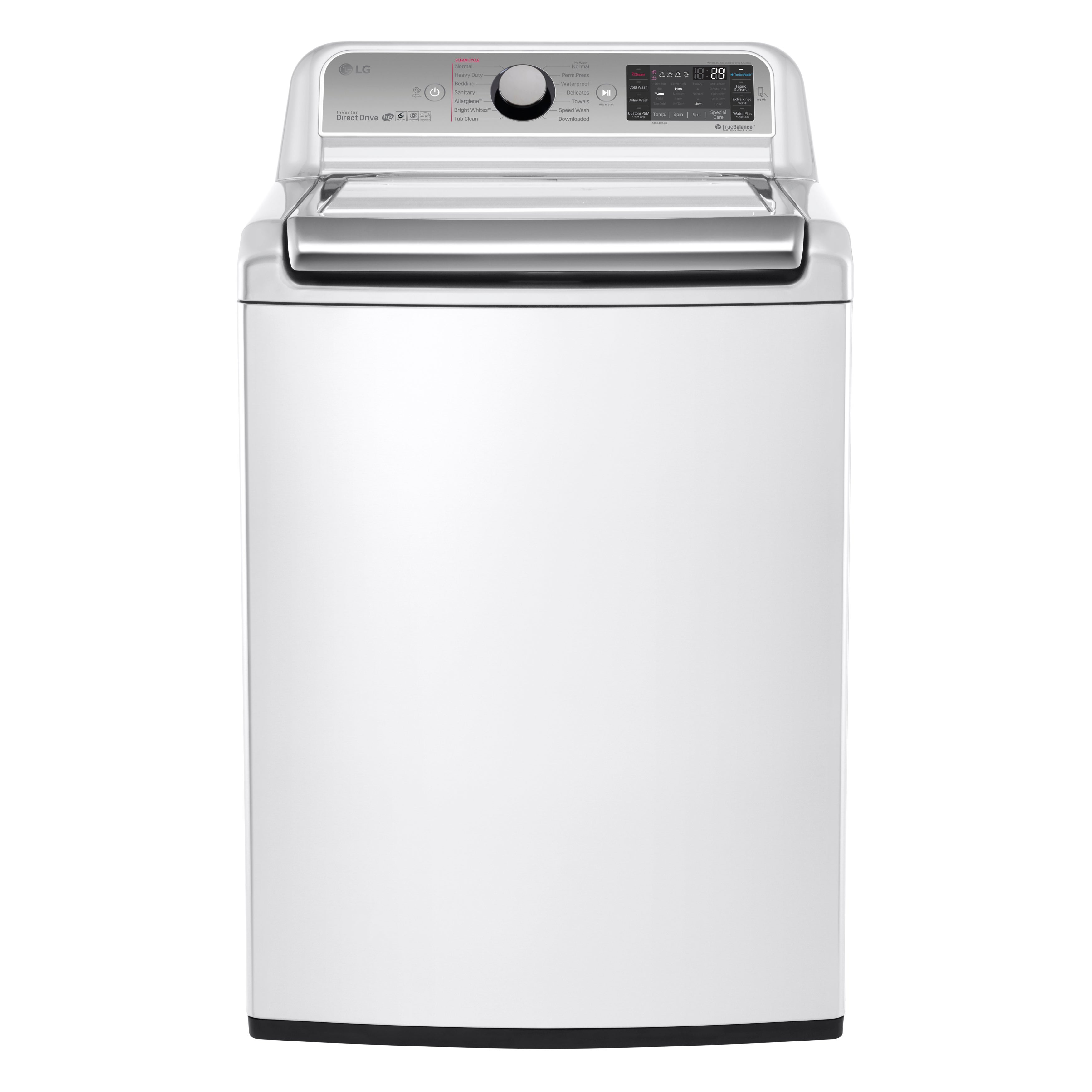 LG White 5.2-cubic-foot Mega Capacity Top-load Washer wit...