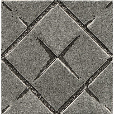 Bedrosians Matterix City Pewter Matte Metal Resin Tile (1 Piece)