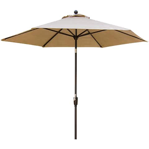 Hanover Traditions Outdoor Dining Collection TRADITIONSUMB Tan Polyester/Aluminum Table Umbrella