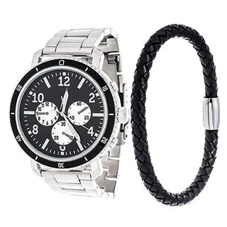 Xtreme Men's Silver Case and Silver Strap Watch with Stainless Steel Bracelets