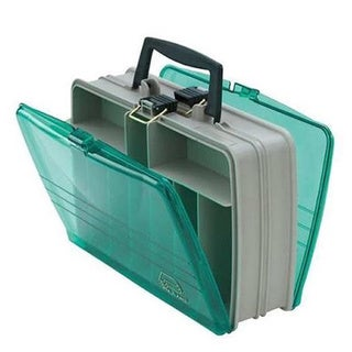 Plano 112000 Clear/Green Plastic Double-sided Satchel Tackle Box