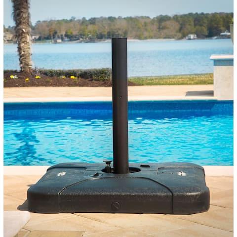 Hanover Outdoor Black Plastic 5.5-inch x 17.3-inch x 17.3-inch Cantilever Umbrella Base