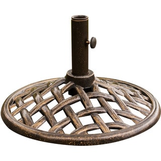 Hanover Black Iron Outdoor Umbrella Base