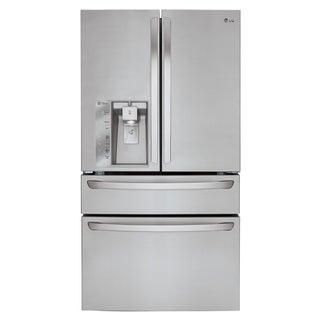 LG LMXC23746S Silver Stainless Steel 23-cubic foot Large Capacity Counter Depth French Door Refrigerator with CustomChill Drawer