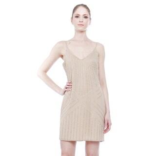 Walter Baker Women's Melina Beige Polyester Hand-beaded Dress