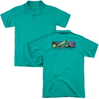 DC/Green Lantern Cosmos (Back Print) Mens Regular Fit Polo in Kelly Green
