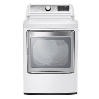 LG DLGX7601WE White Stainless Steel 27-inch 7.3-cubic-foot Gas Dryer with 14 Dry Programs and TurboSteam