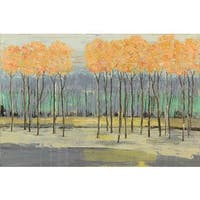 Marmont Hill 'Fresh Foliage II' Painting Print on Wrapped Canvas