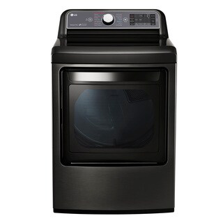 LG DLGX7601KE Black Stainless Steel 27-inch Gas Dryer With 7.3-cubic-foot Capacity