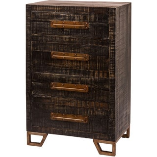 Hillsdale Furniture Bridgewater Black Wood/Metal 4-Drawer Cabinet