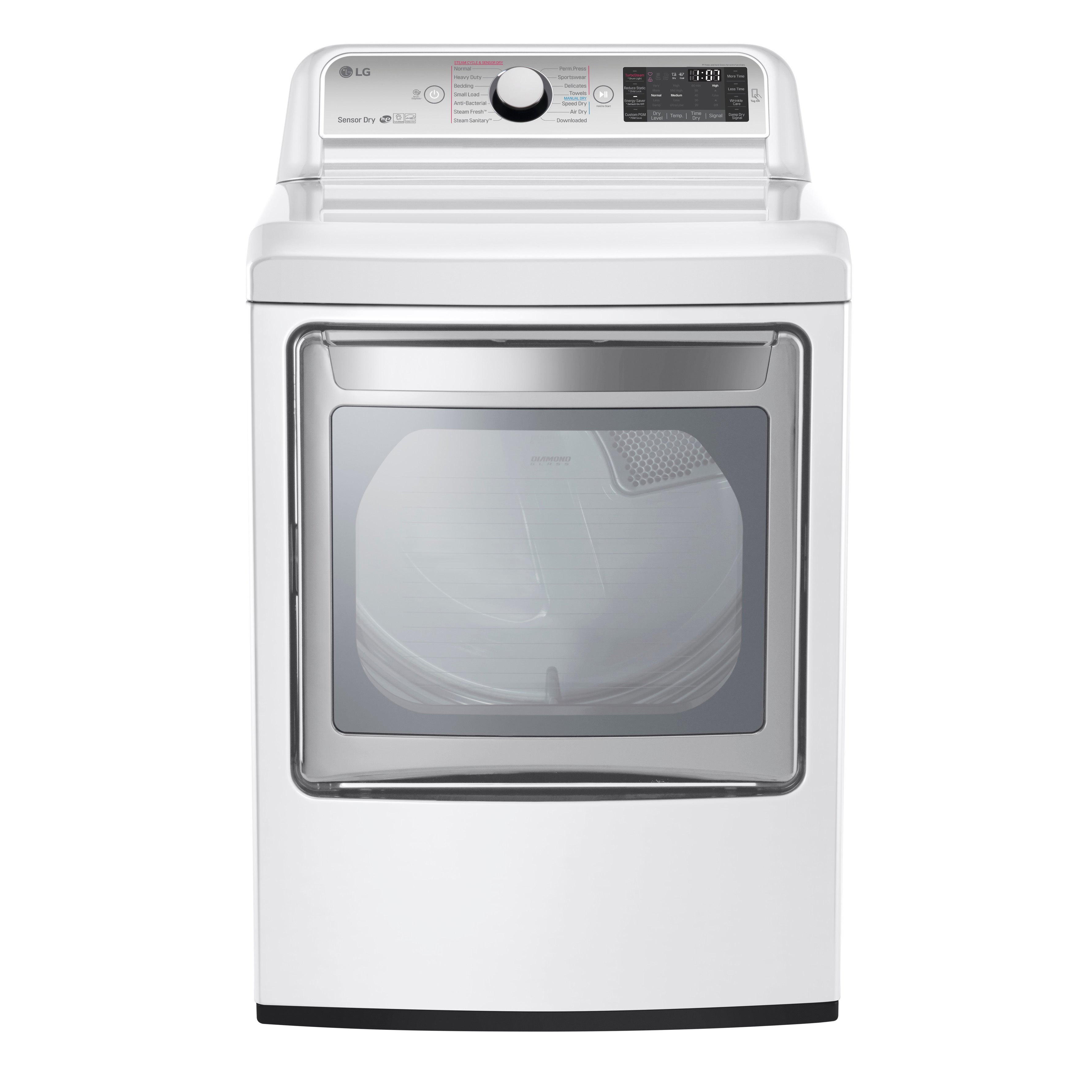 LG DLEX7600WE White Stainless Steel 27-inch 7.3-cubic-foo...