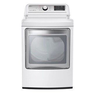 LG DLEX7600WE White Stainless Steel 27-inch 7.3-cubic-foot TurboSteam Electric Dryer