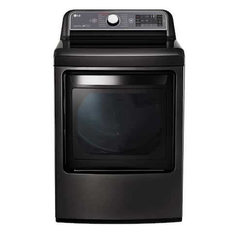 LG Black Stainless Steel 7.3-cubic foot 27-inch Electric Dryer