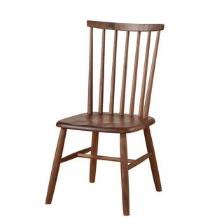 Aurelle Home Solid Handcrafted Walnut Dining Chairs (Set of 2)