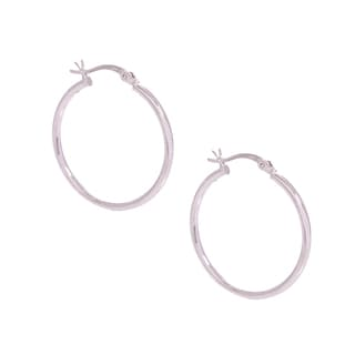 Pori Sterling Silver 50-millimeter Hoop Earrings
