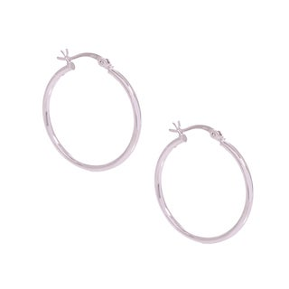 Pori Sterling Silver 3-millimeter x 60-millimeter Hoop Earrings