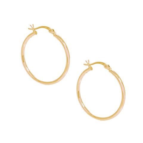 Pori 18k Gold-plated Sterling Silver 30-millimeter Hoop Earrings