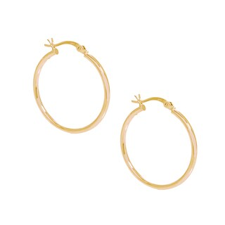 Pori 18k Gold-plated Sterling Silver 30-millimeter Hoop Earrings