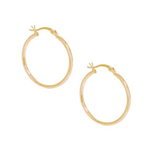 Pori 18k Gold Plated Sterling Silver 3-millimeter x 70-millimeter Hoop Earrings