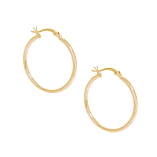 Pori 18k Gold Plated Sterling Silver 3-millimeter x 70-millimeter Hoop Earrings
