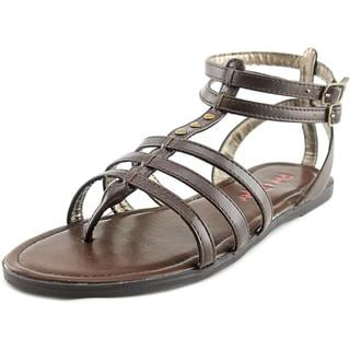 Pink & Pepper Women's Coazter Brown Faux Leather Gladiator Sandals