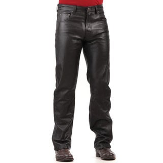 Tanners Avenue Men's Black Lambskin Leather Pants