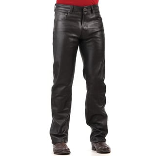 Men's Black Lambskin Leather Pants