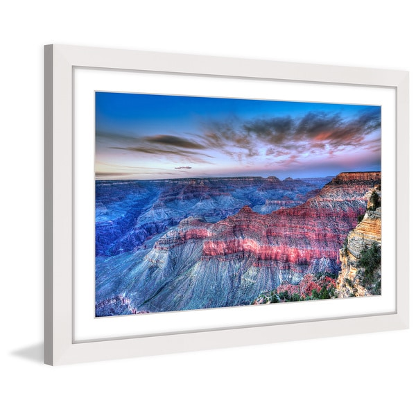 Marmont Hill 'Pink Layers' Framed Painting Print