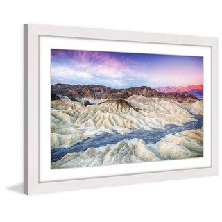 Marmont Hill 'River Through White Sand' Framed Painting Print