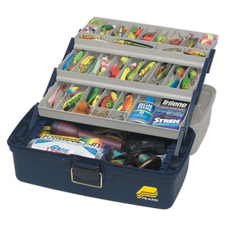 Plano 613306 Blue/White Plastic XL Three-tray Tackle Box
