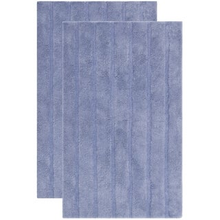 Safavieh Plush Master Spa Stripe Light Purple Bath Rug (Set Of 2)