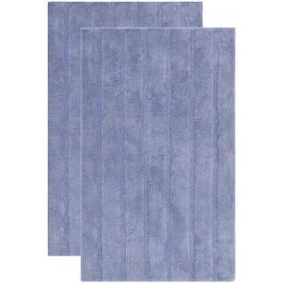 Safavieh Plush Master Spa Stripe Light Purple Bath Rug (Set Of 2)
