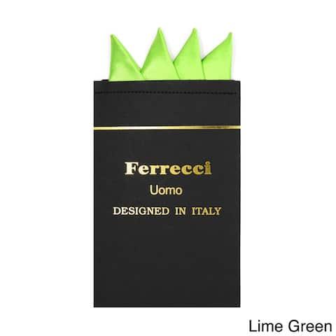 Ferrecci Men's Multicolor Microfiber Pre-folded Pocket Square Handkerchief - S