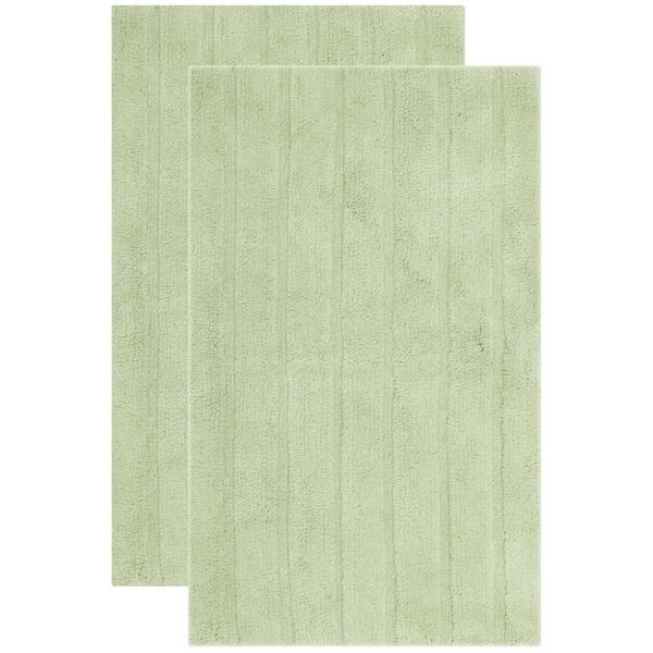 Shop Safavieh Plush Master Spa Stripe Light Green Bath Rug