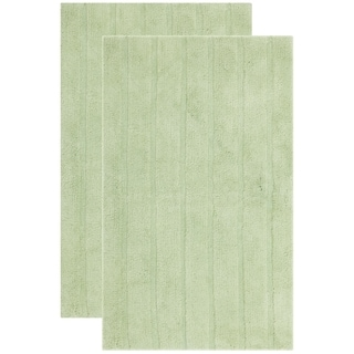 Safavieh Plush Master Spa Stripe Light Green Bath Rug Set Of 2 Free Shipping Today