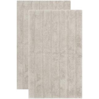 Safavieh Plush Master Spa Stripe Grey Bath Rug (Set Of 2)