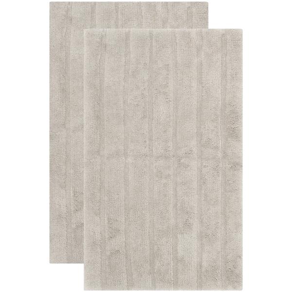 Loop Light Grey Bath Rug Reviews: Shop Safavieh Plush Master Spa Stripe Grey Bath Rug (Set