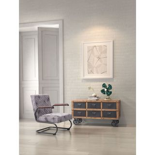 Zuo Green Industrial Grey Natural Pine Cabinet
