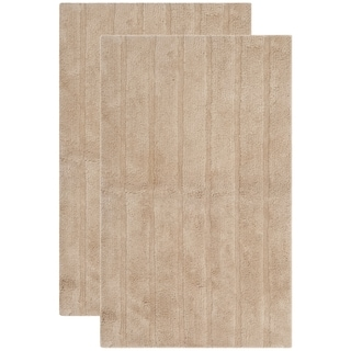Safavieh Plush Master Spa Stripe Camel Bath Rug (Set Of 2)