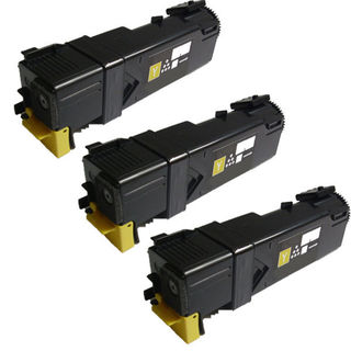3PK Compatible Dell 1320 Y Toner Cartridge For Dell 1320 1320c 1325 ( Pack of 3 )