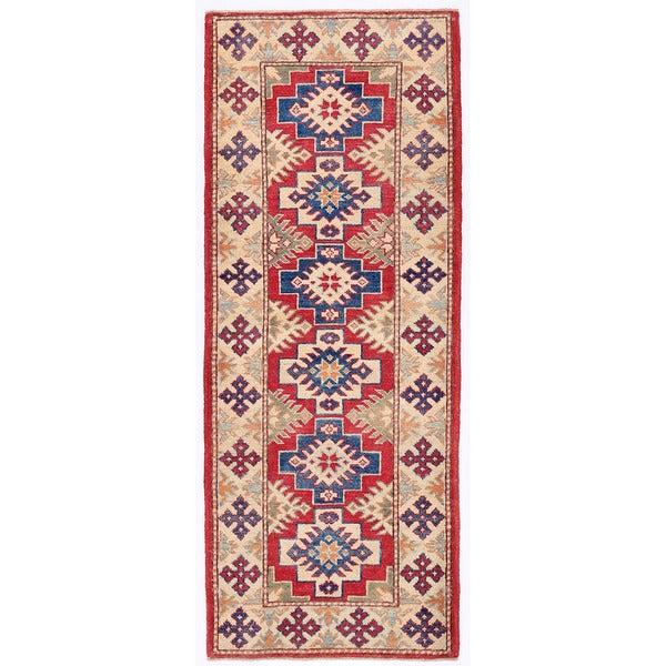 Herat Oriental Afghan Hand-knotted Kazak Wool Runner (2'3 x 5'10)
