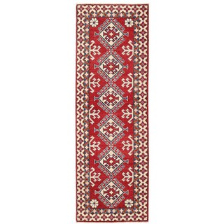 Herat Oriental Afghan Hand-knotted Kazak Wool Runner (1'11 x 6')