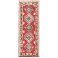 Herat Oriental Afghan Hand-knotted Kazak Wool Runner (2' x 6')