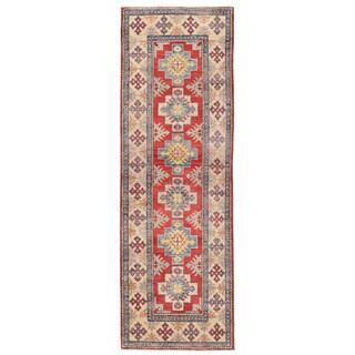 Herat Oriental Afghan Hand-knotted Kazak Wool Runner (2' x 6'5)
