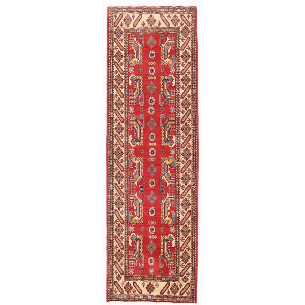 Herat Oriental Afghan Hand-knotted Kazak Wool Runner (2'7 x 9'5) - 2'7 x 9'5