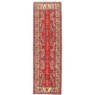 Herat Oriental Afghan Hand-knotted Kazak Wool Runner (2'7 x 9'5)