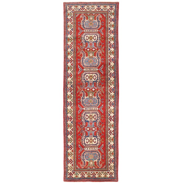 Herat Oriental Afghan Hand-knotted Kazak Wool Runner (2'7 x 8'9)