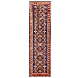 Herat Oriental Afghan Hand-knotted Kazak Wool Runner (2'9 x 9'10)
